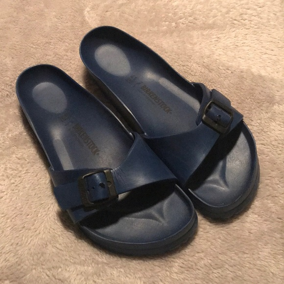 582a3f3c41b Birkenstock Shoes - Birkenstock Madrid Eva Navy Blue Sandal